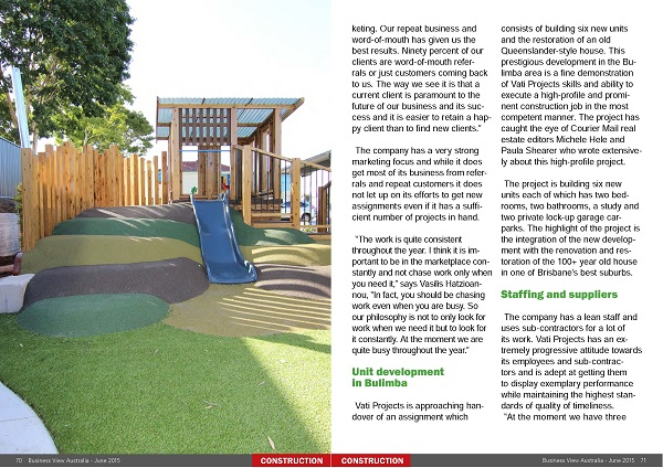 Vati Projects Featured In Business View Magazine Australia Vati Project