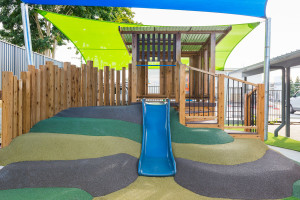 15 childcare cubby with slide